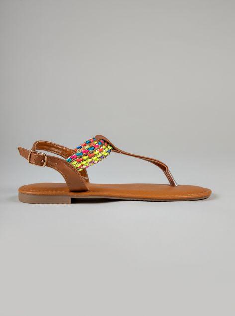 Sandalo infradito in ecopelle