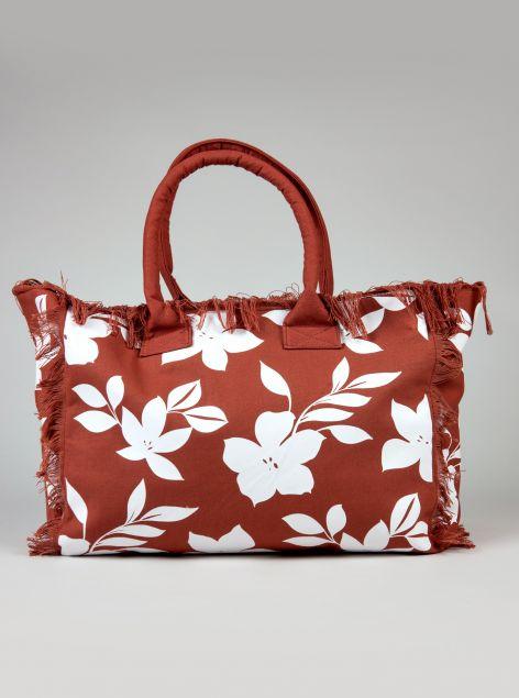 Shopper floreale con manici