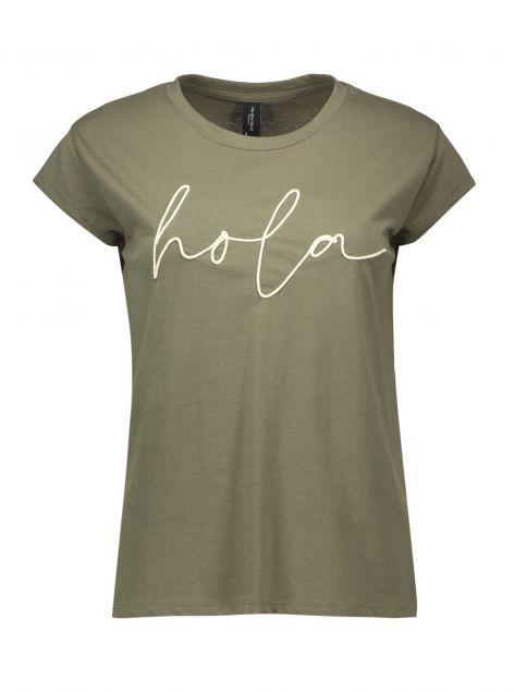 T-Shirt con ricamo a rilievo
