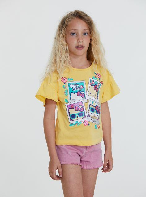 T-shirt con volant