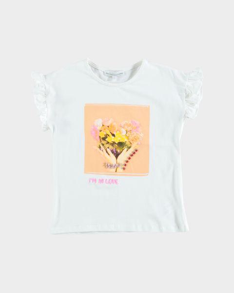 T-shirt maniche a volant