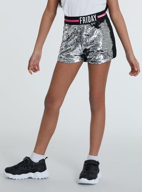 Shorts con paillettes