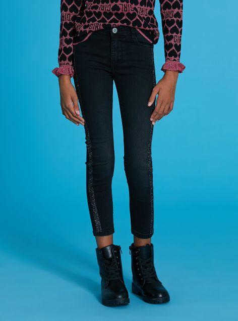 Jeans con brillantini