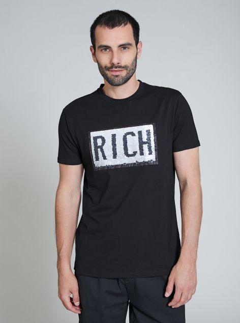 T-Shirt con paillettes reverse
