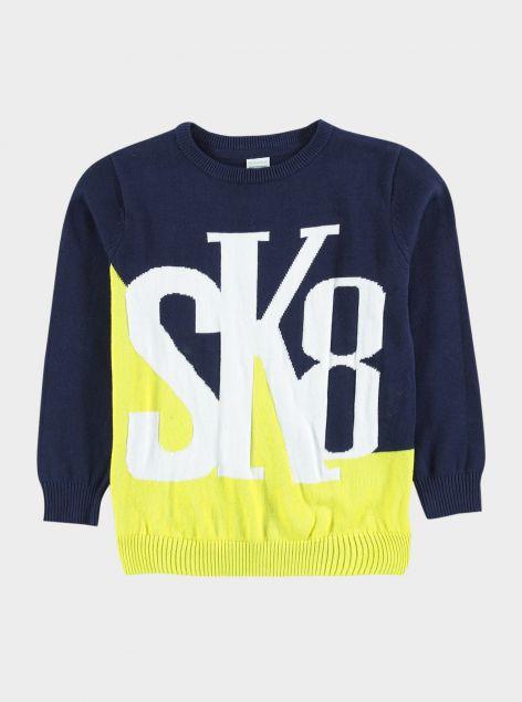 Maglione colori a contrasto