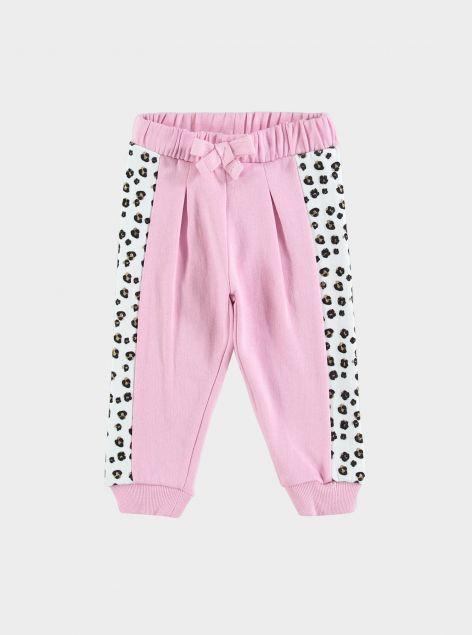 Pantaloni con elastico e banda laterale