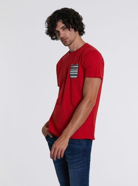 T-Shirt con taschino