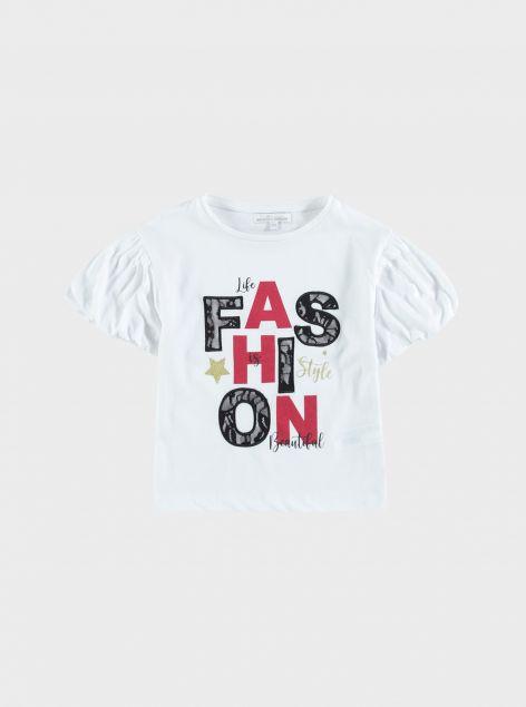T-shirt maniche a sbuffo