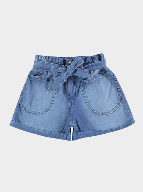 Shorts con fiocco