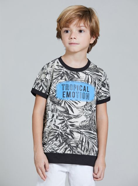 T-Shirt fantasia tropicale