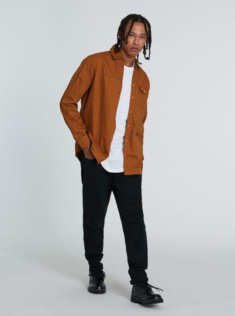 Camicia in cotone con clip