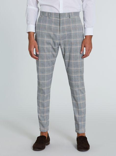 Pantaloni classici con stampa
