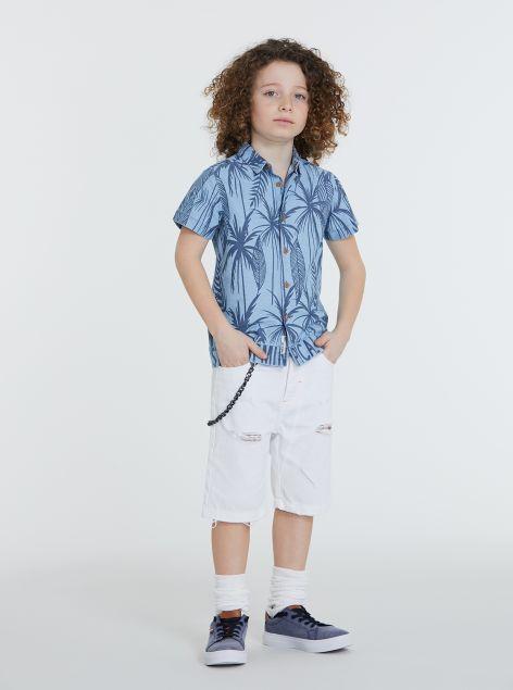 Camicia stampe tropicali