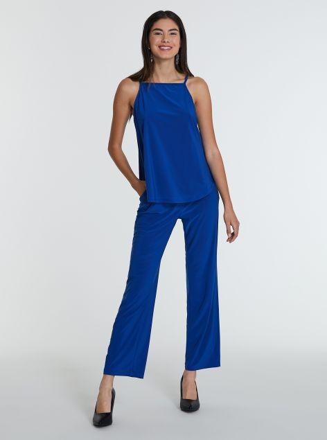 Pantaloni dritti con elastico