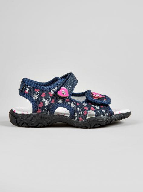 Sandalo tomaia stampa a cuori