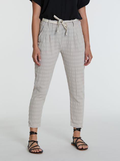 Pantaloni lino e cotone
