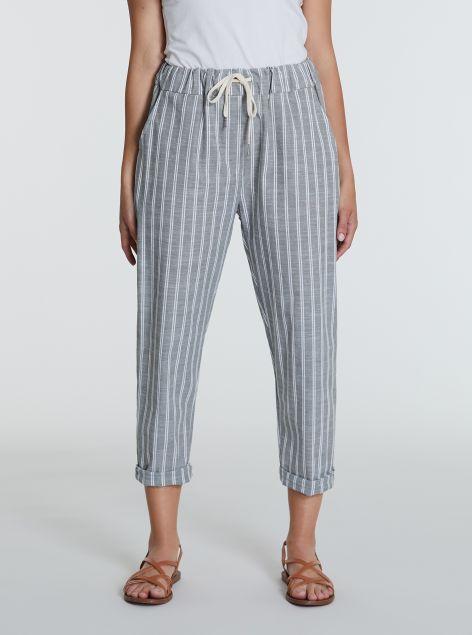 Pantaloni in cotone con righe