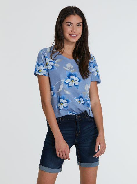 T-shirt con stampe floreali