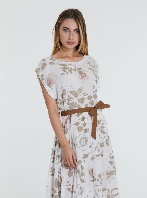 Vestito floreale con cintura