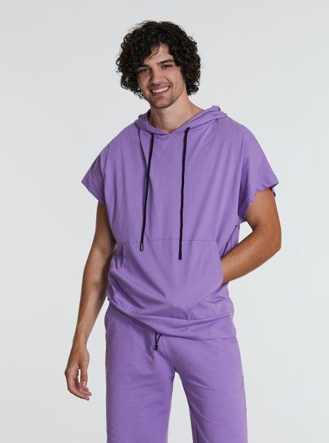 T-Shirt over-size con cappuccio