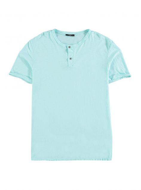 T-Shirt girocollo con bottoni