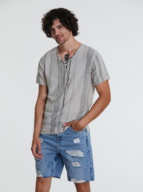 Camicia con lacci