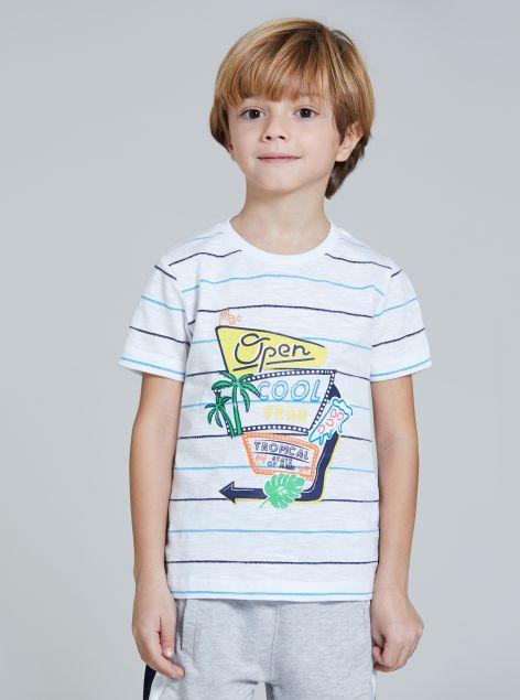 T-Shirt a righe da bambino