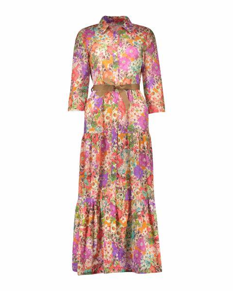 Vestito floreale a balze