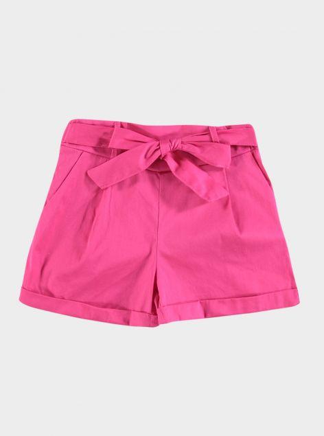 Shorts fiocco in vita