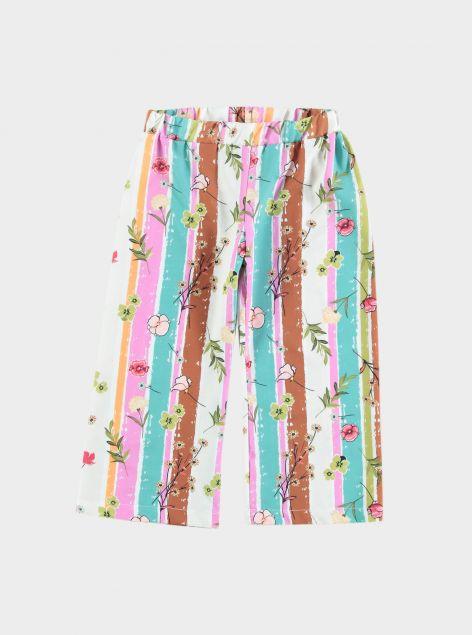 Pantaloni coulotte con stampa