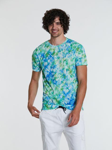 T-shirt tie dye con scritte