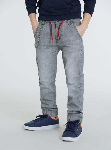 Pantaloni in denim con elastico