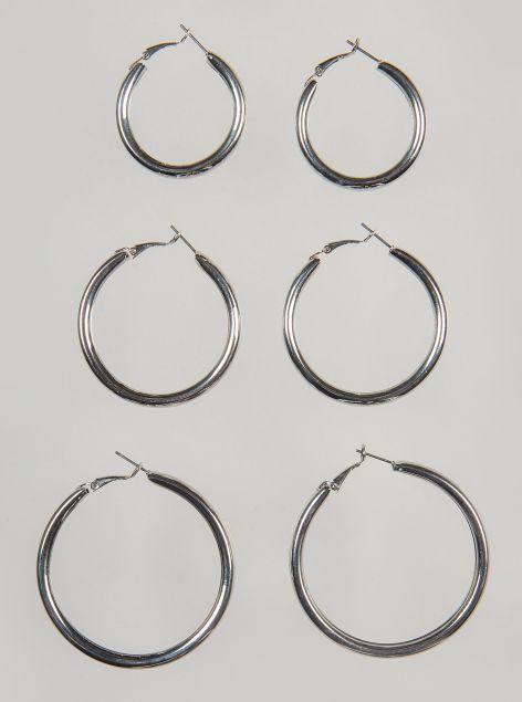 Tris orecchini circolari