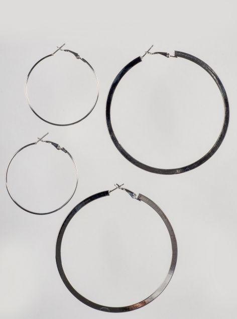 Set orecchini a cerchio