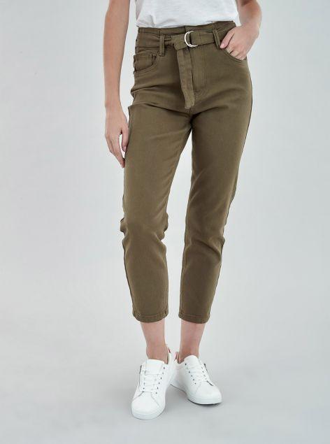 Jeans high waist con cintura