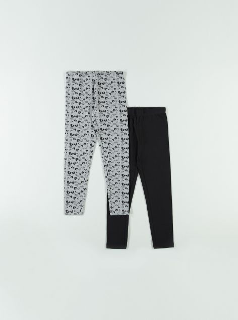 2pack leggings in cotone