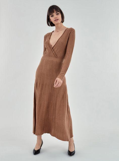 Vestito lungo in maglia