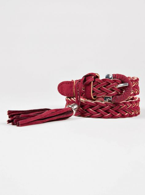 Cintura intrecciata con dettaglio