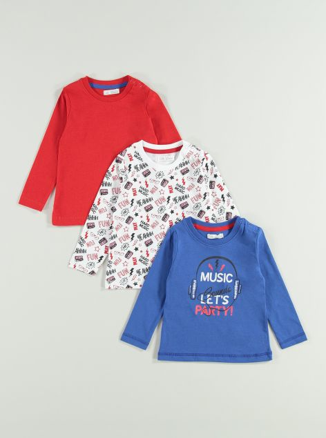 3pack T-shirt in cotone