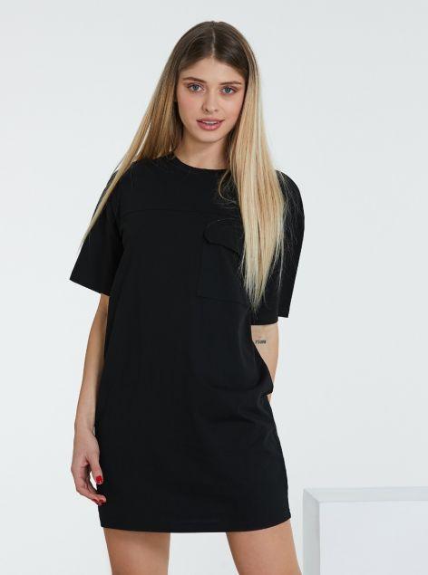 T-Shirt lunga con taschino