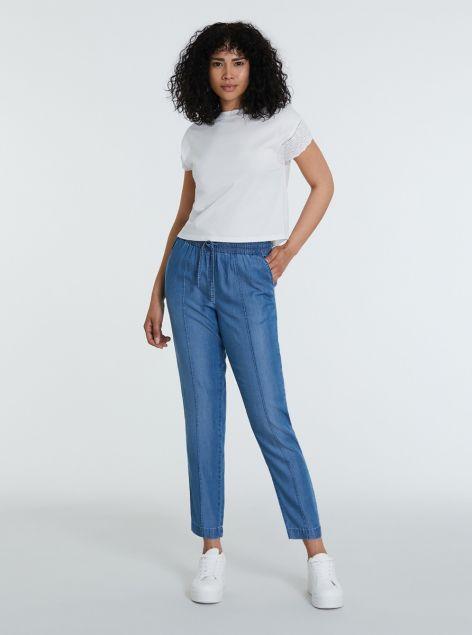 Pantaloni denim in lyocell