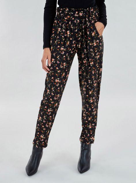 Pantaloni stampa fiori