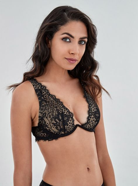 Bralette in pizzo chantilly