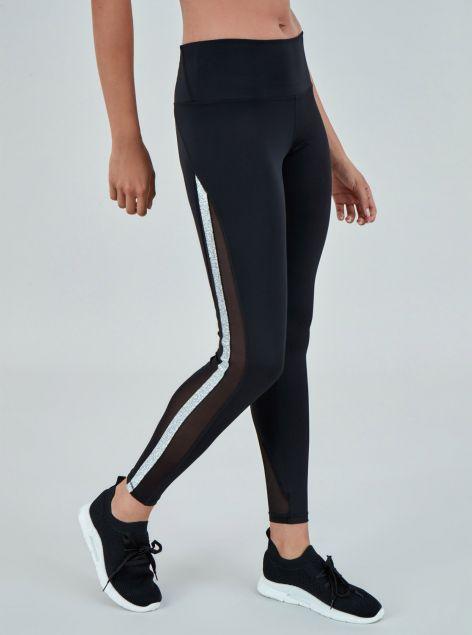 Leggings fitness con bande laterali