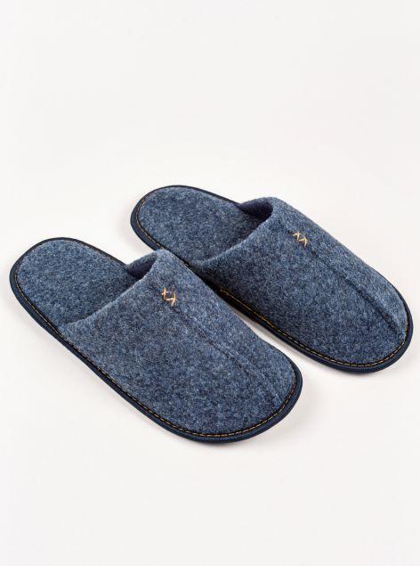 Pantofole con impuntura