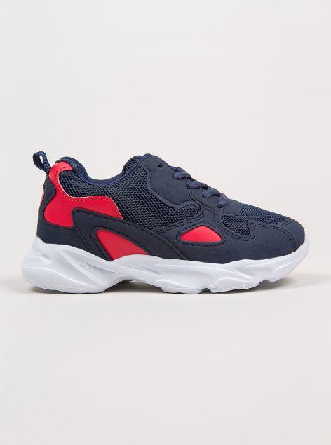 Sneakers con inserti a contrasto