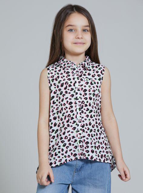 Camicia giromanica da bambina