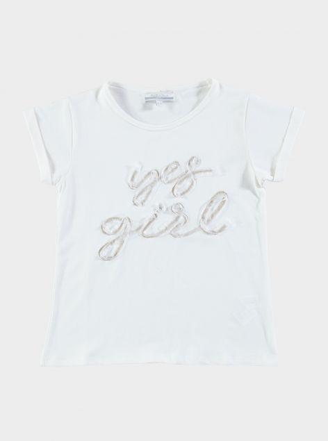 T-Shirt con applicazioni sul petto