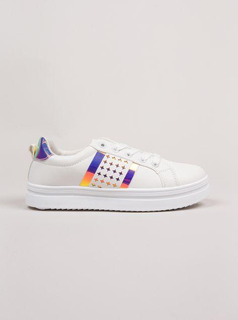 Sneakers con inserti metallizzati
