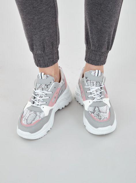 Sneakers combinata animalier